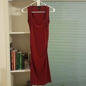 Moda Maroon Sheath Dress